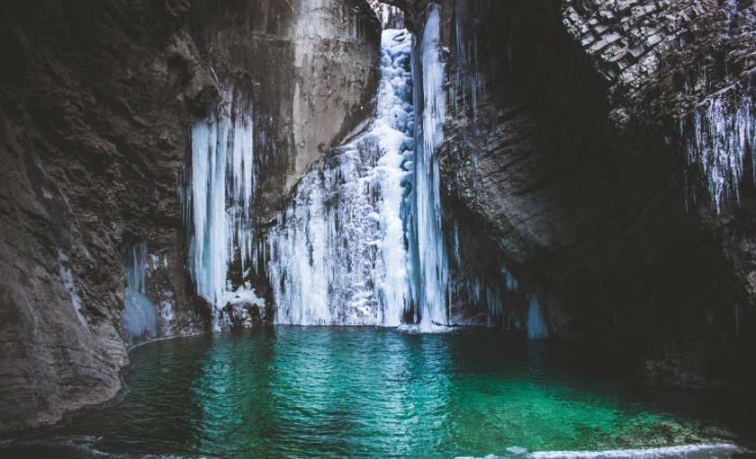 frozen grotto