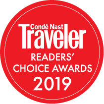 badge for conde nast traveler readers choice awards 2019 voting