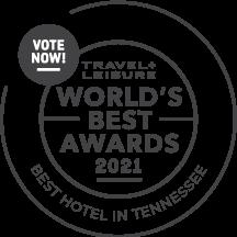 Travel + Leisure World's Best Awards 2021 Best Hotel in Tennessee. vote now!