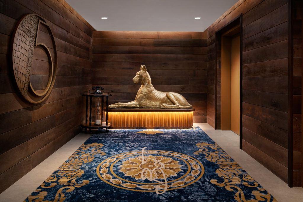 lobby sculpture dog