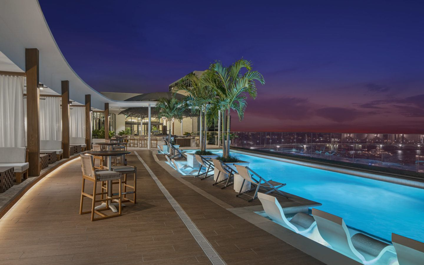 outdoor pool terrace