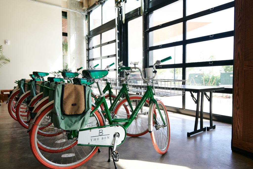 green and brown city bike