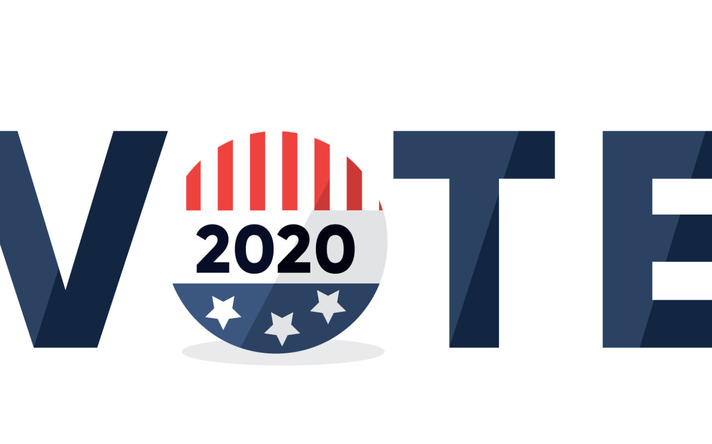 blue and white i love you logo vote 2020