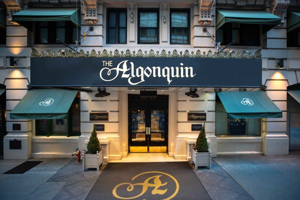 The Algonquin entrance