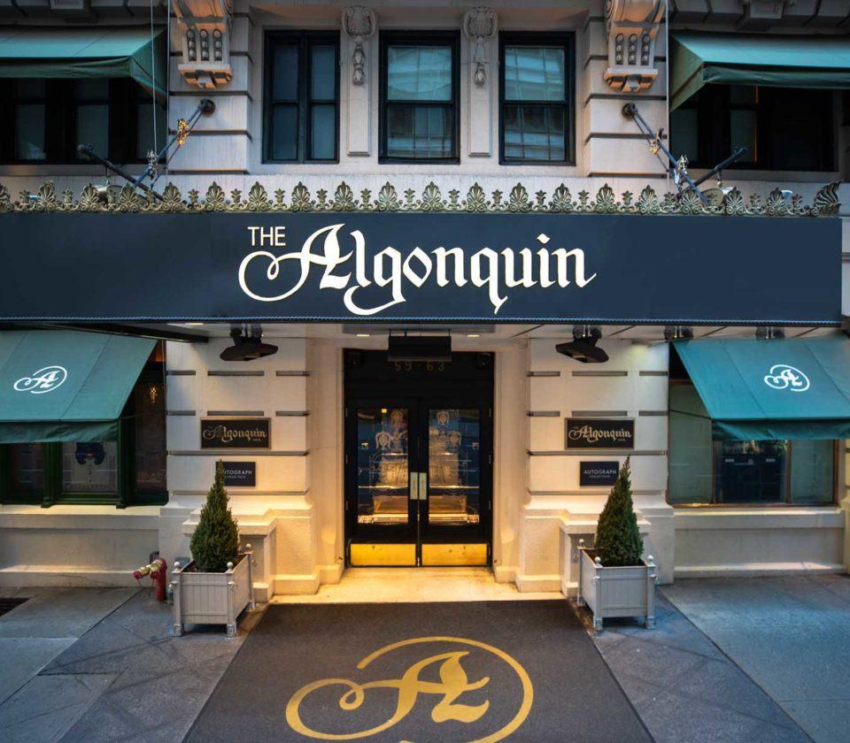 The Algonquin entrance