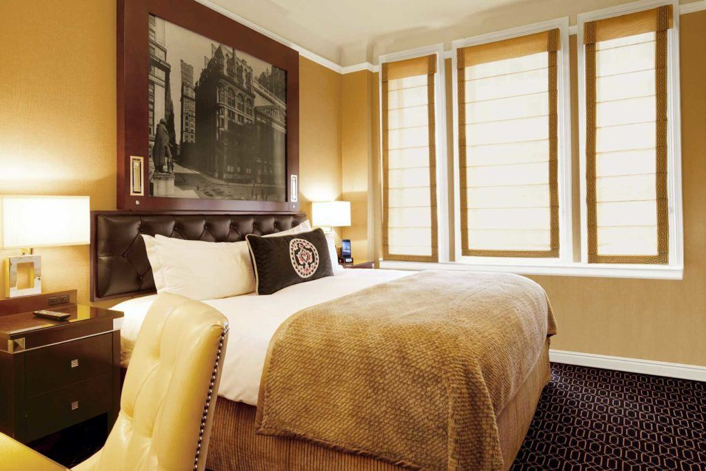 brown and white room interior within the guest room