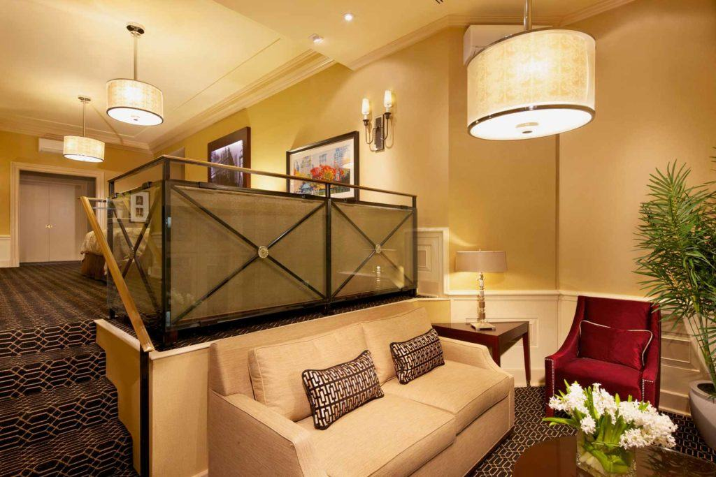 loveseat sofa in the Barrymore Suite