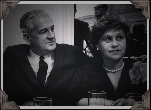 grayscale photo of Bodnes couple