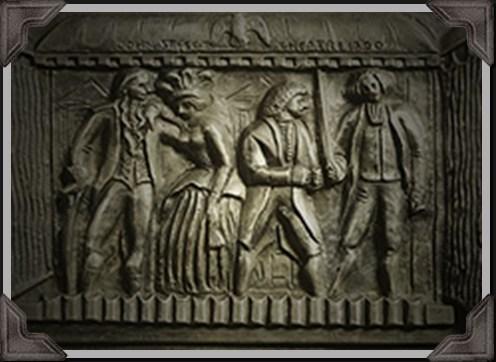 gray embossed sculpted artwork