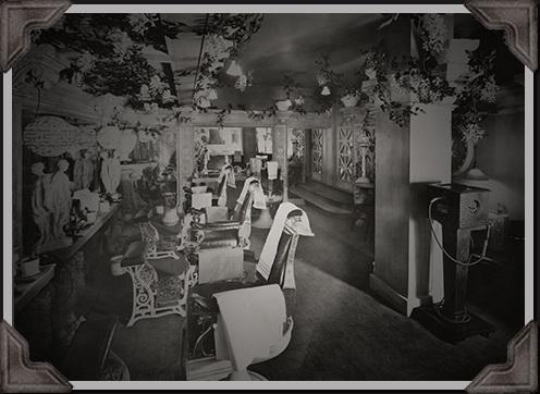 white chairs in Hotel Annex historic photo