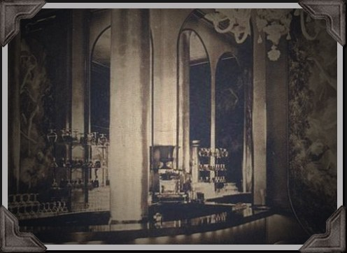 grayscale photo of old Blue Bar