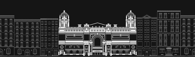 Hippodrome building illustration