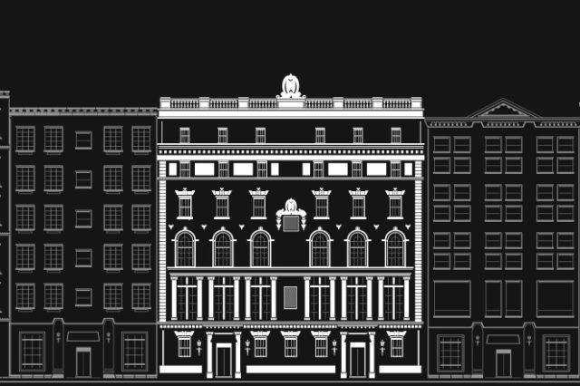 Lambs Club building illustration