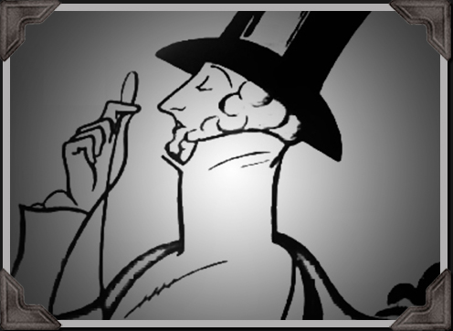 man wearing black hat illustration from the New Yorker