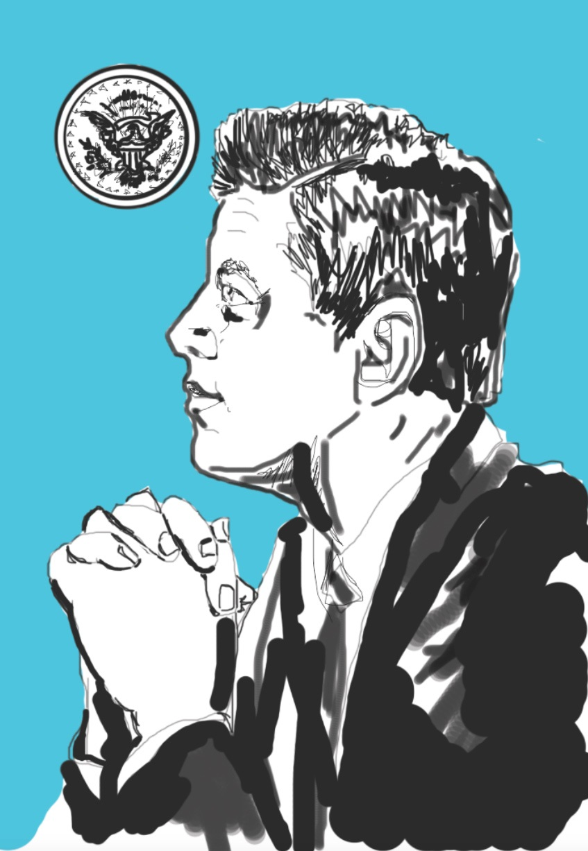 JFK profile illustration