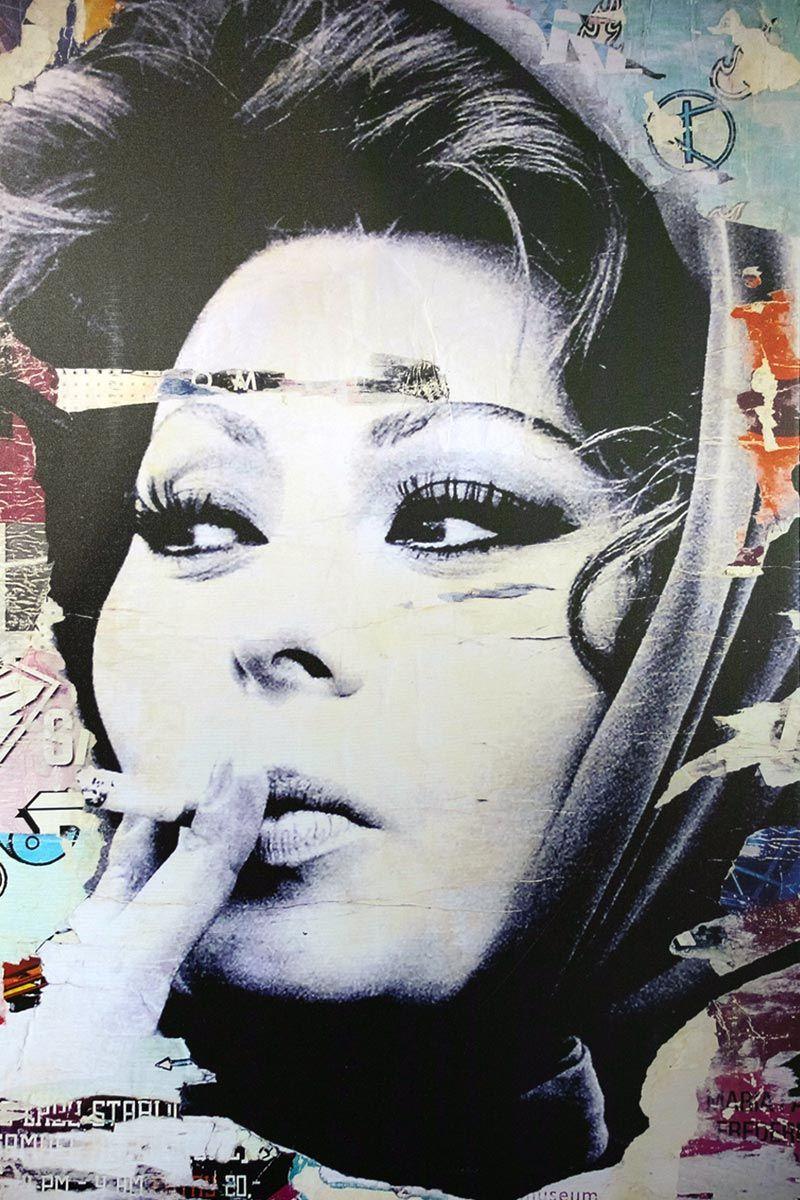 woman wearing headscarf smoking portrait