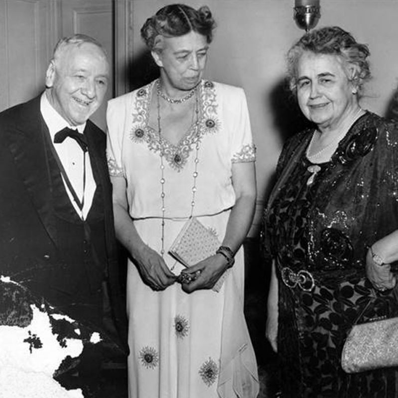 First Lady Eleanor Roosevelt in 1941 at The Mayflower Hotel