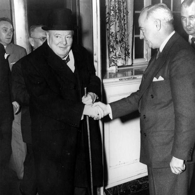 Prime Minister Winston Churchill in 1945.