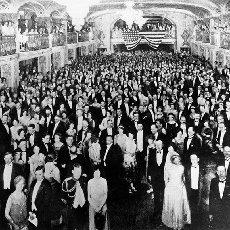 The Mayflower Hotel grand event in 1925