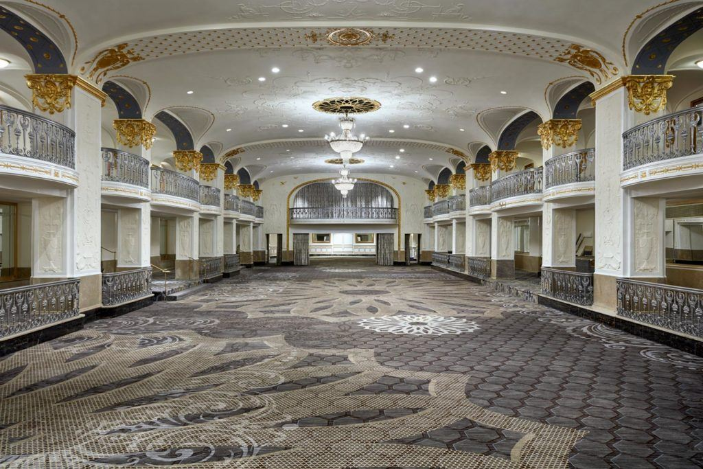 large ballrooom venue at The Mayflower Hotel