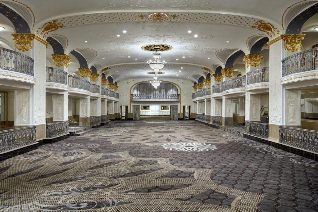 large ballrooom venue at The Mayflower Hotel