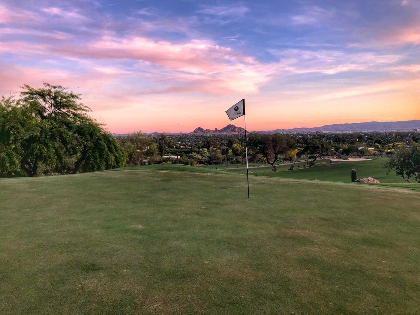The Phoenician Golf Course with sunrise