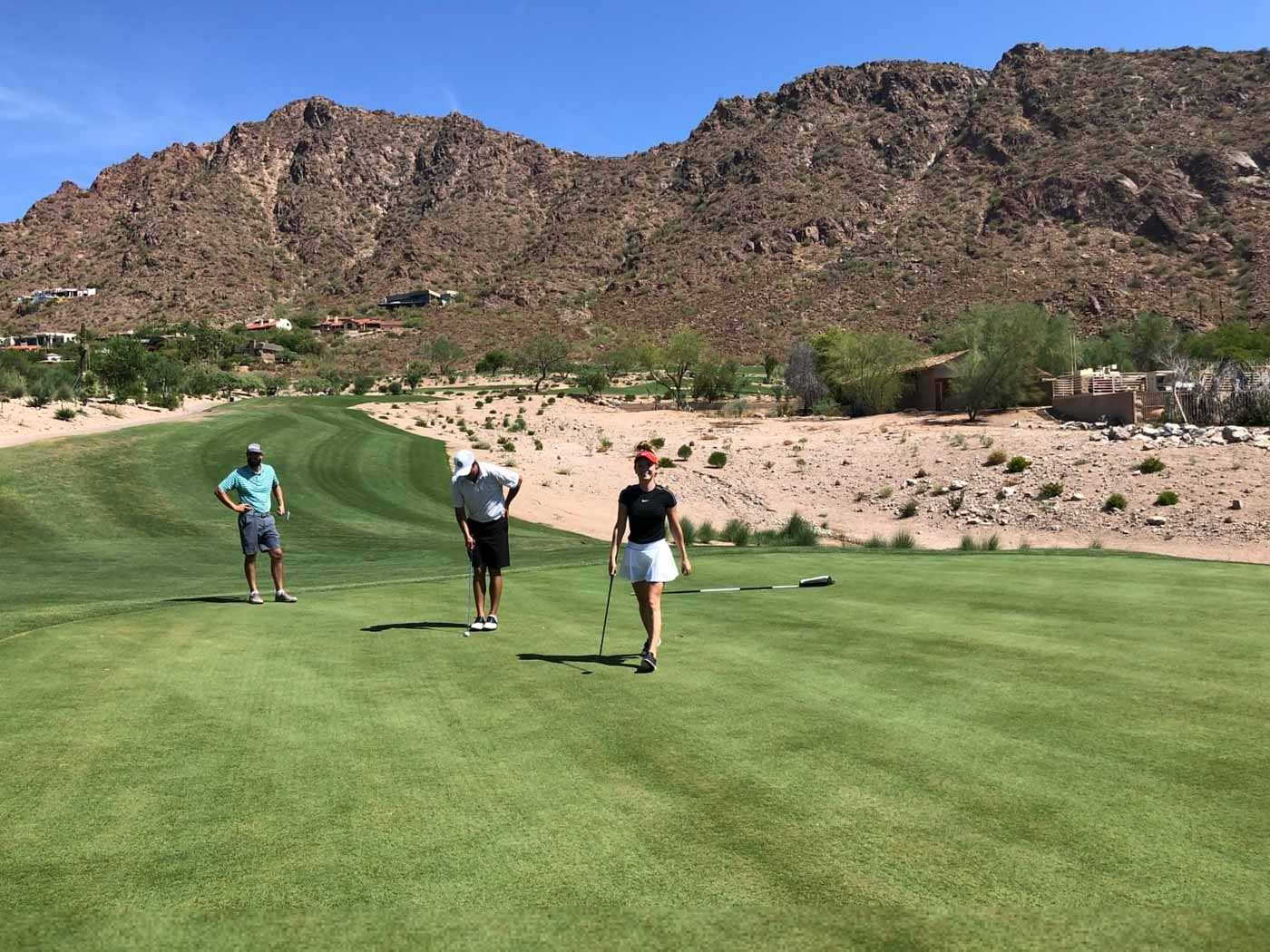 group of three golfers on The Phoenician Golf Course