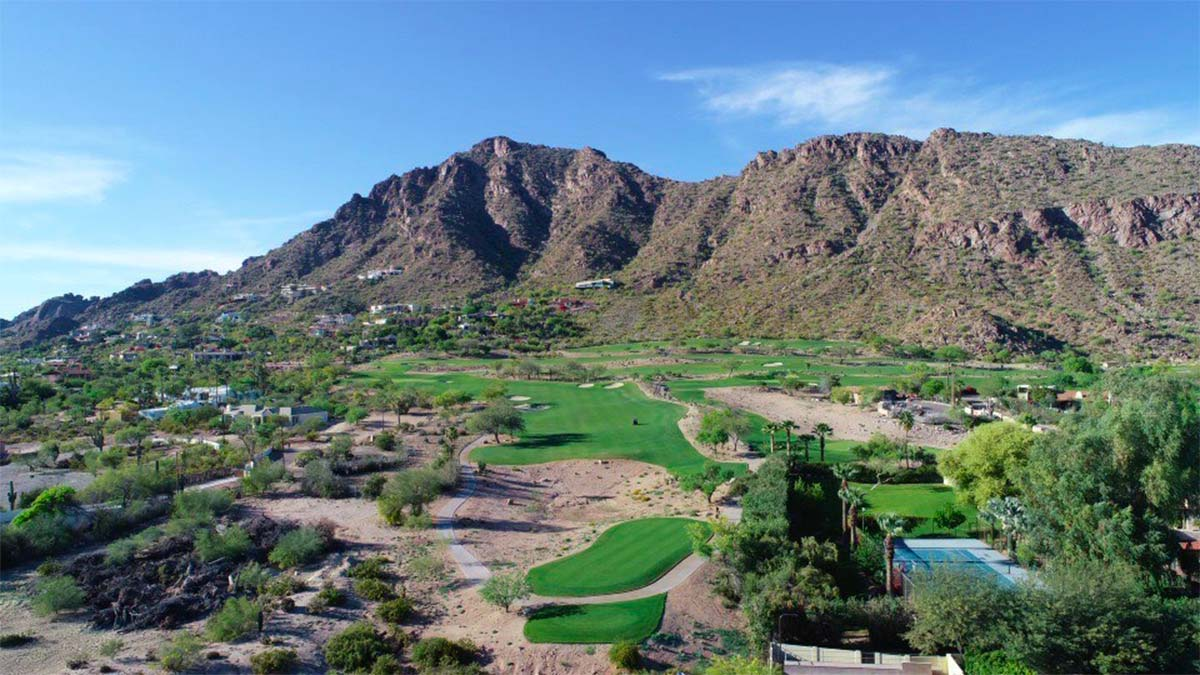 The Phoenician Golf course wide shot