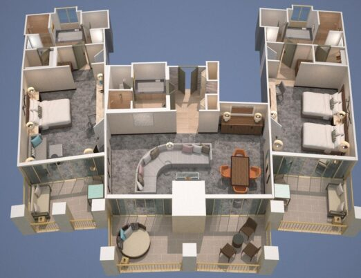 floor plans for a two bedroom Casita at The Phoenician