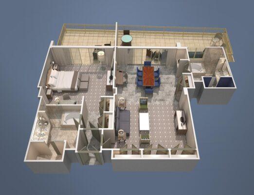 executive suite floorplan diagram