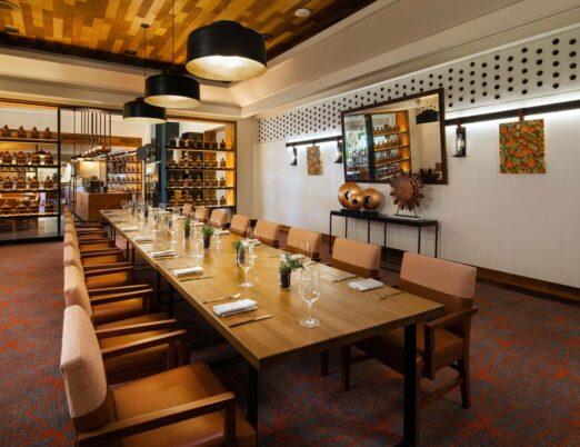 Vermilion private dining room
