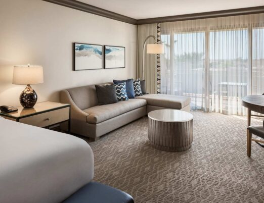 The Phoenician guestroom with pullout sofa next to bed