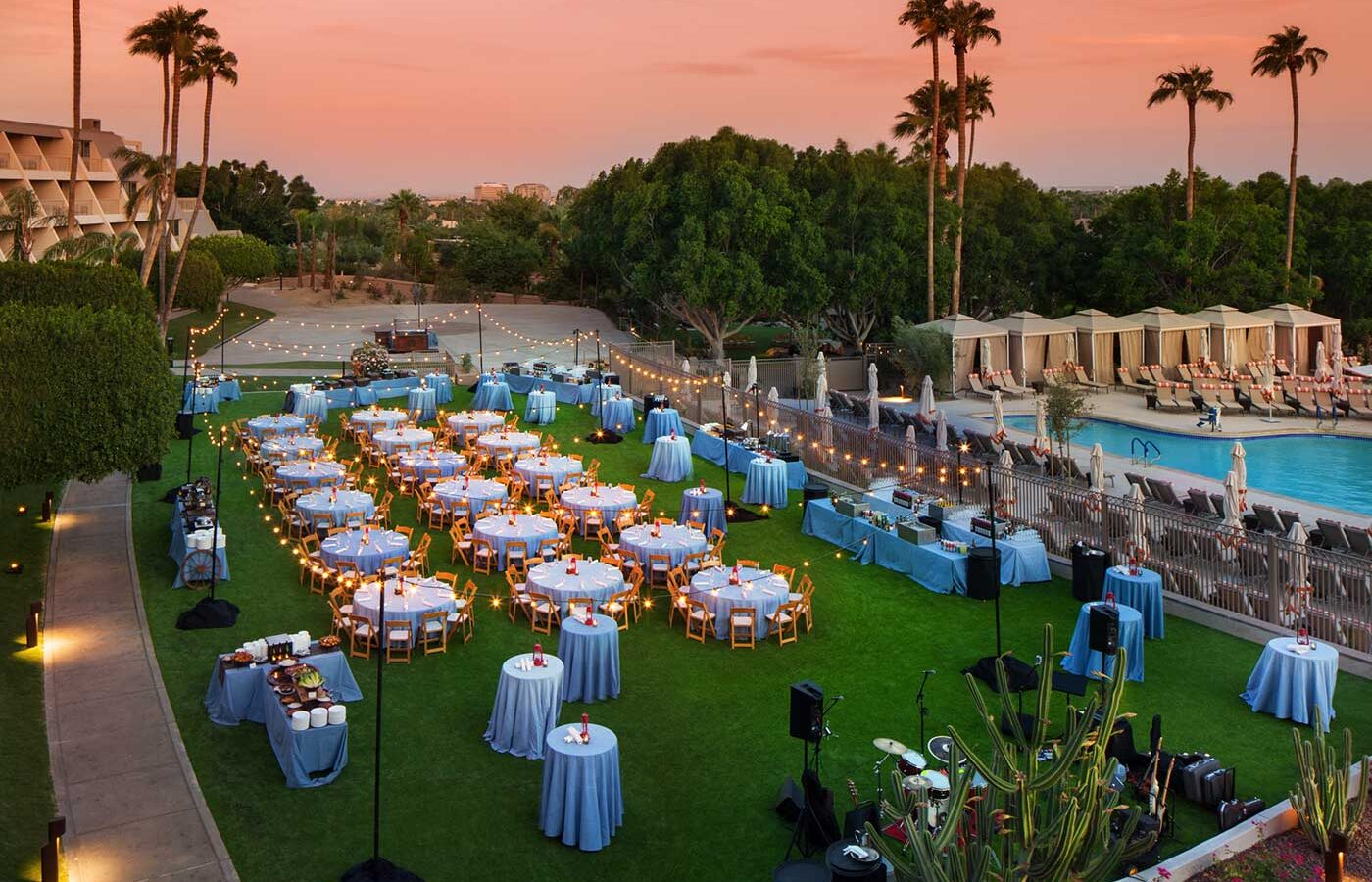Wedding Reception on the East Lawn