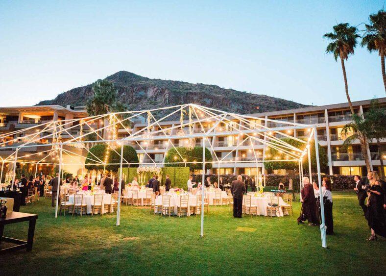 East Lawn & Patio Wedding Reception | Elyse Hall Photography