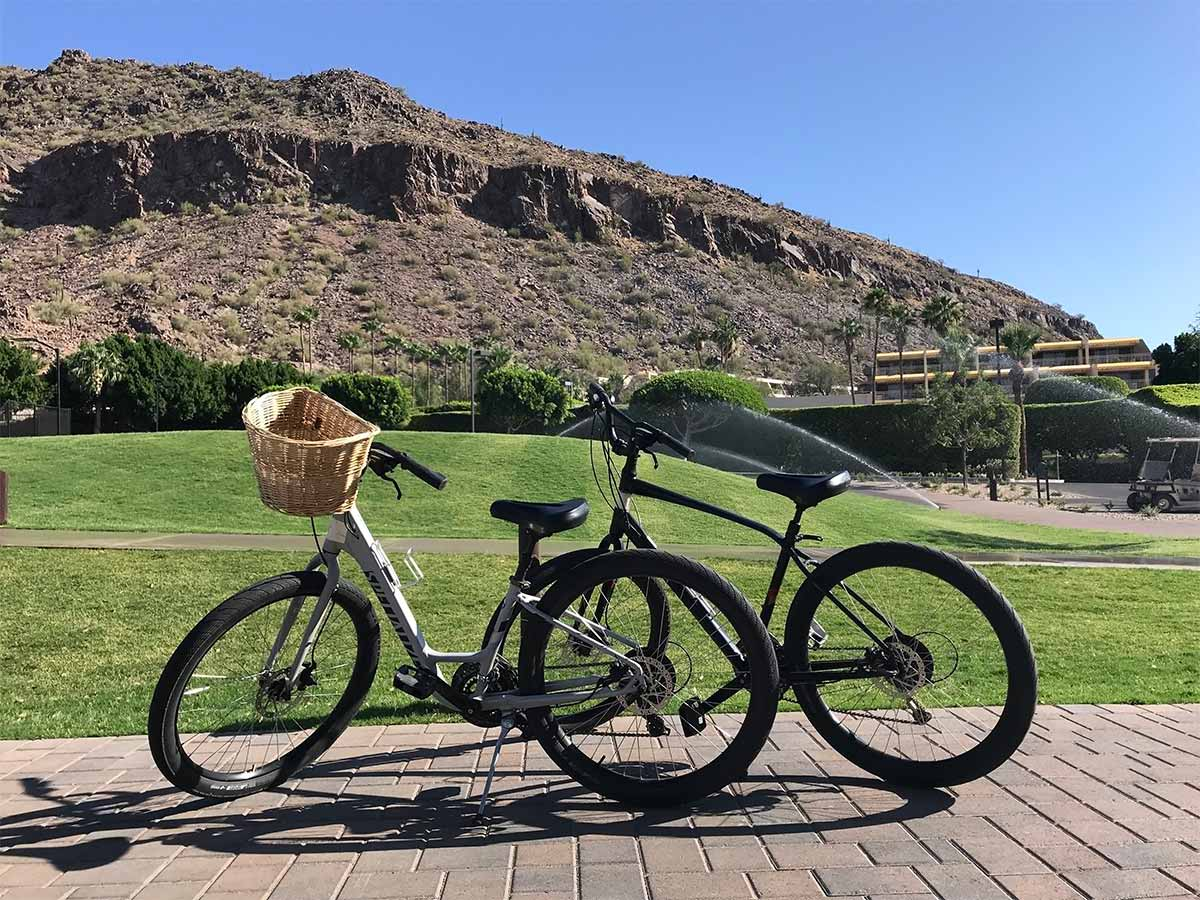 rentable bikes at The Phoenician