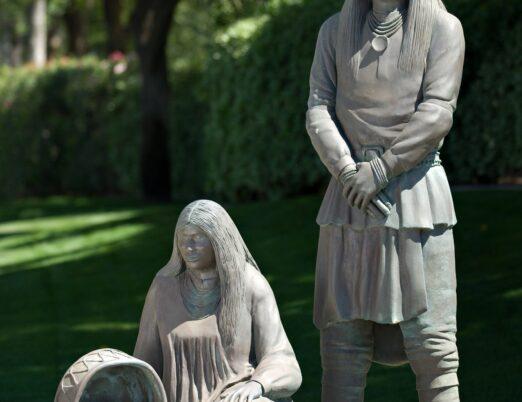 sculpture Chiricahua Apache Family, created by Allan Houser