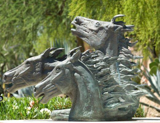 sculpture Mustangs, created by Allan Houser