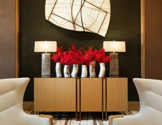 hanging wall sculpture in a hotel lobby by Mark Pomilio: Local, Arizona Artist