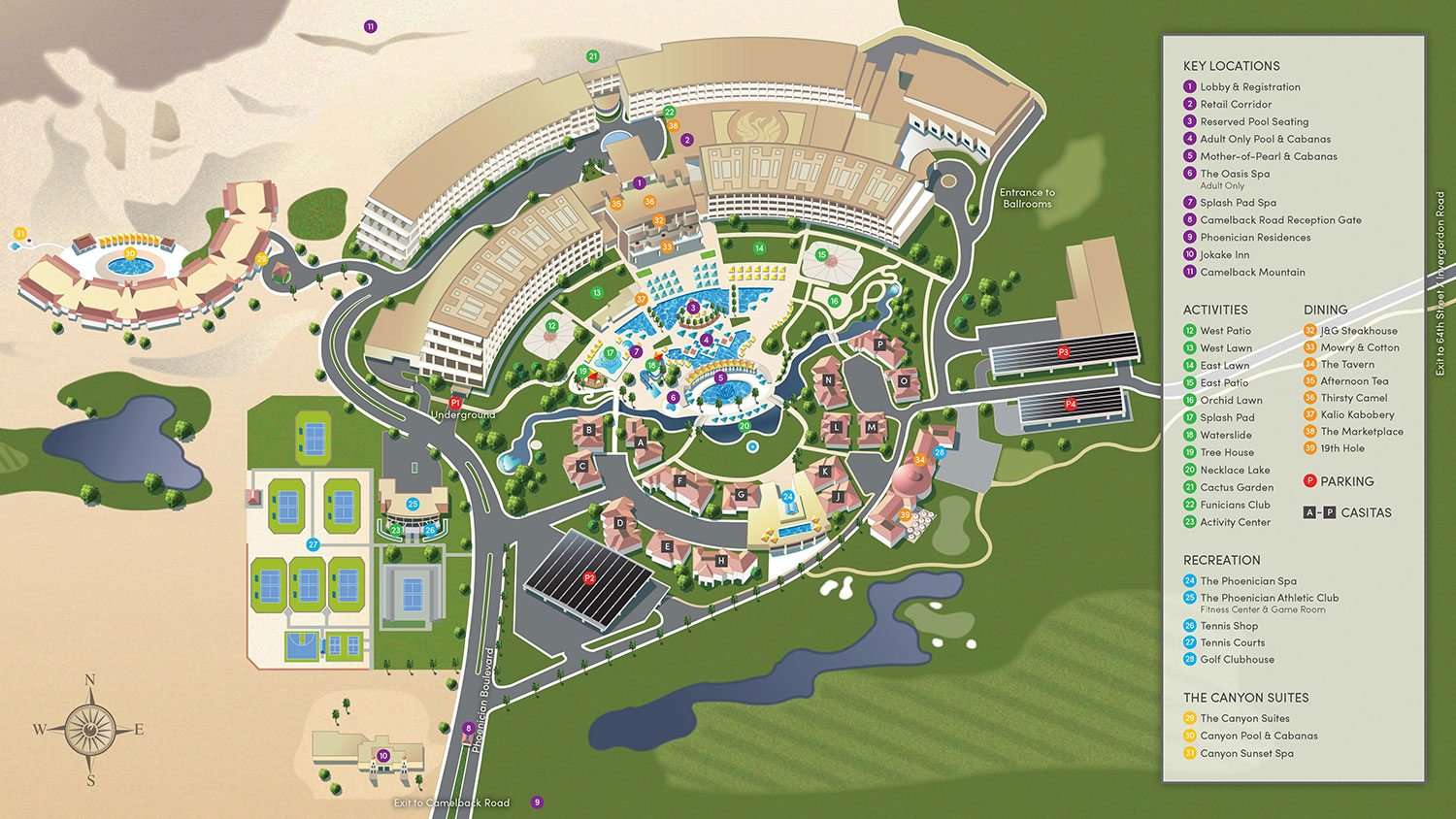 The Phoenician Resort Map