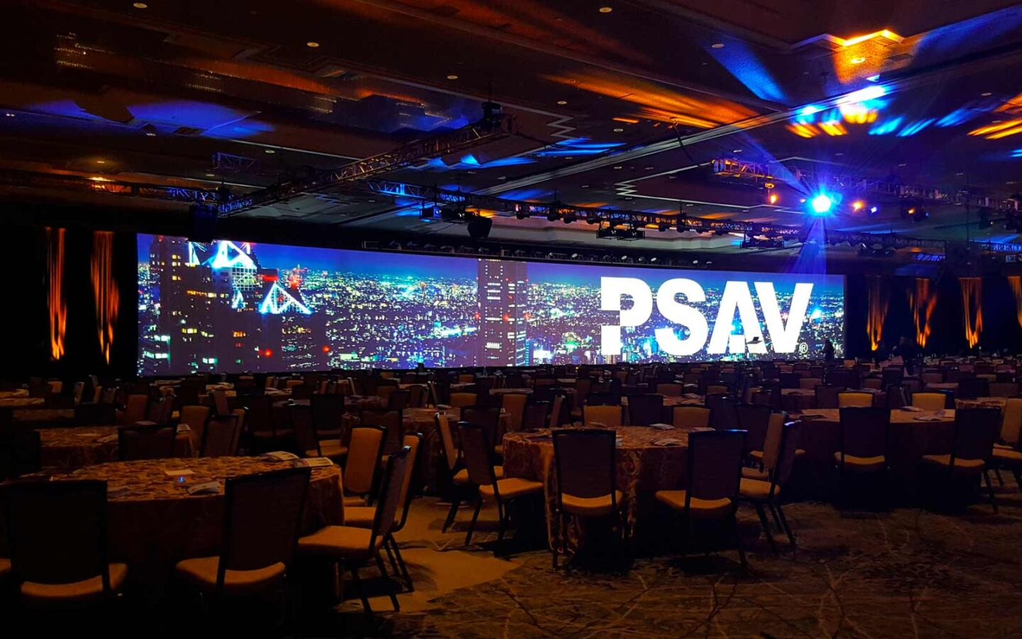 The Phoenician meeting room set for large audio visual event