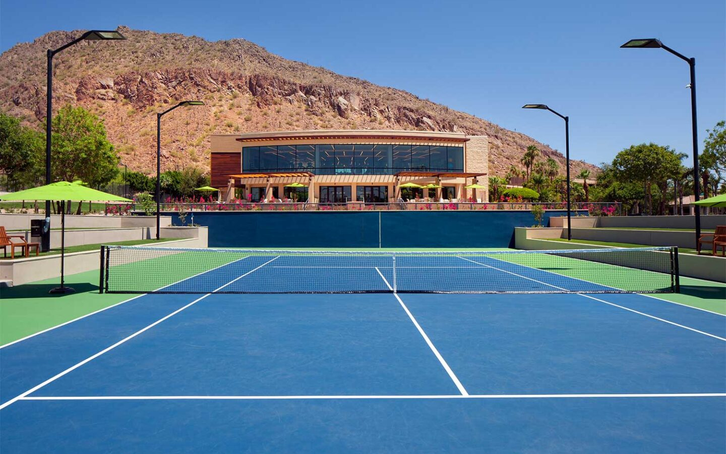 outdoor tennis court at The Phoenician