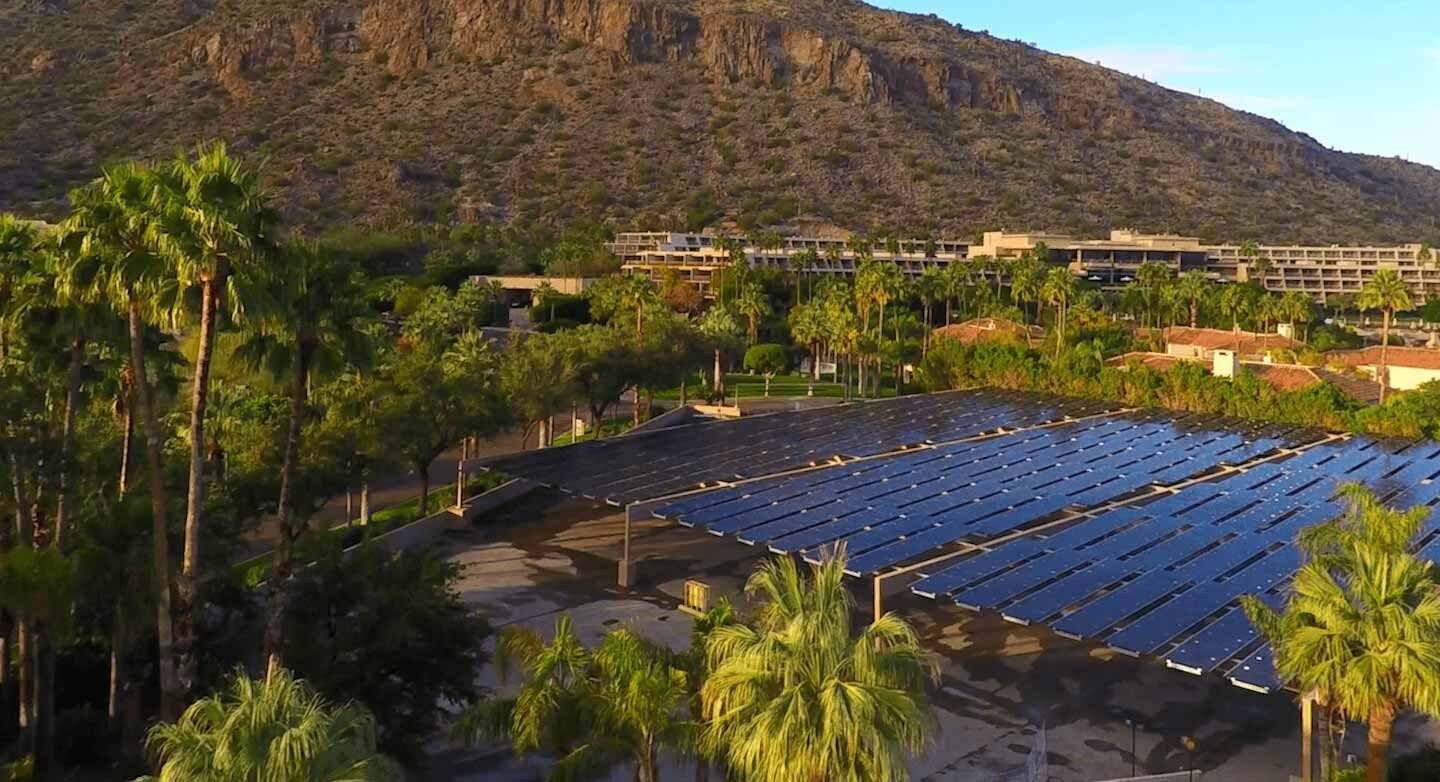 solar panels at The Phoenician