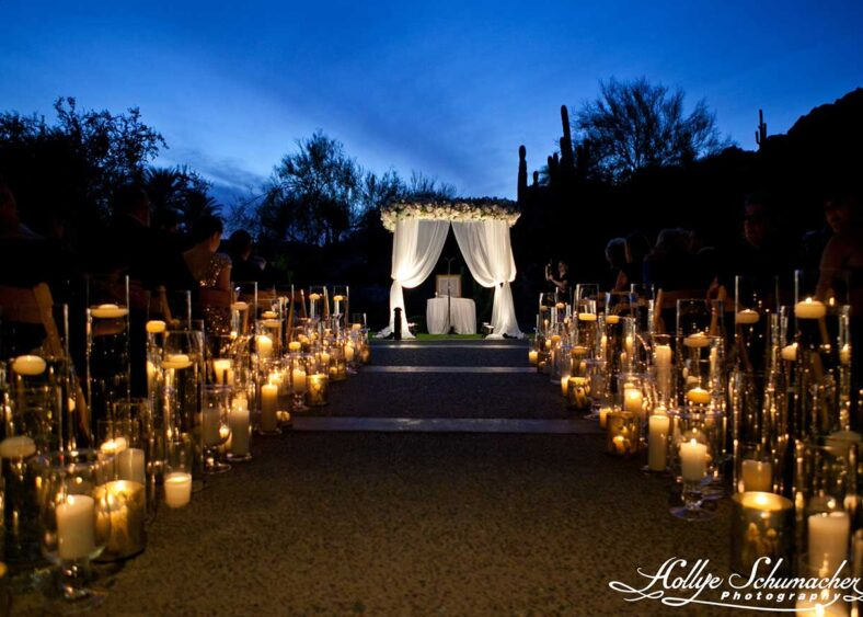 Canyon Patio Wedding Ceremony | Hollye Schumacher Photography
