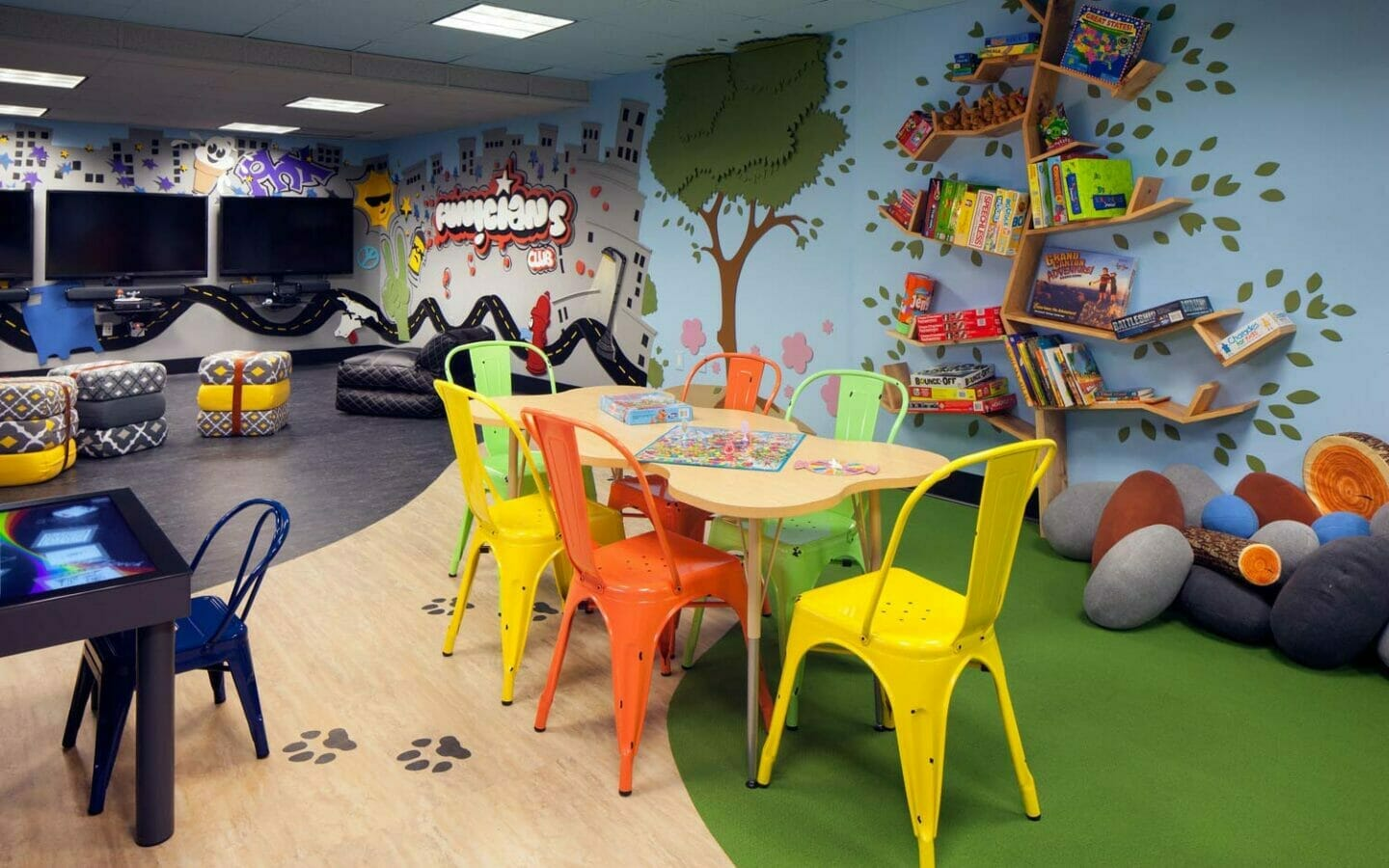 play room at the Funicians Kids Club
