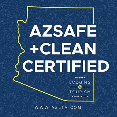 AZ Safe and Clean Certified badge